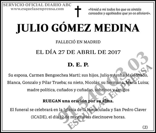 Julio Gómez Medina